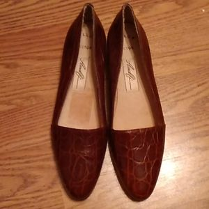 Woman Amalfi hector brown leather flats